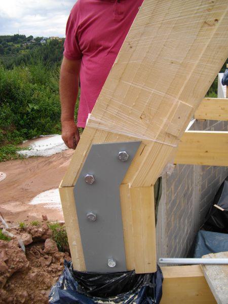 la charpente auto construction de notre domespace. Black Bedroom Furniture Sets. Home Design Ideas