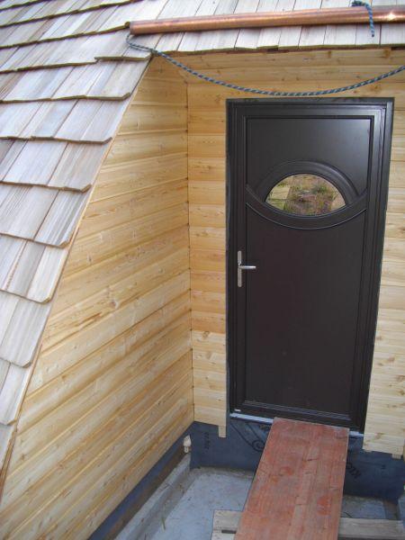 Habillage de la porte d entr e auto construction de notre domespace - Habillage de porte d entree ...